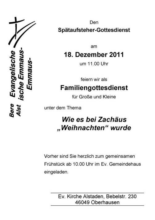 Gembeck: Adventssingen in der Gembecker Kirche